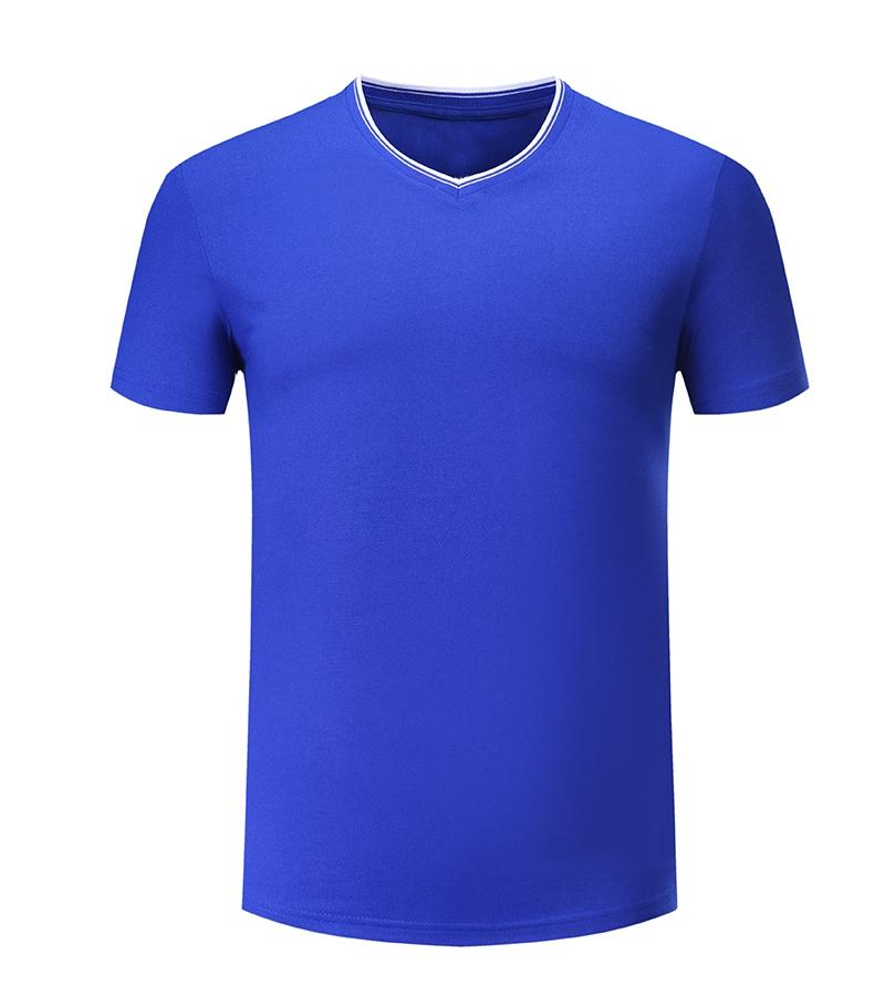 新肤纺珠地V领T恤文化衫