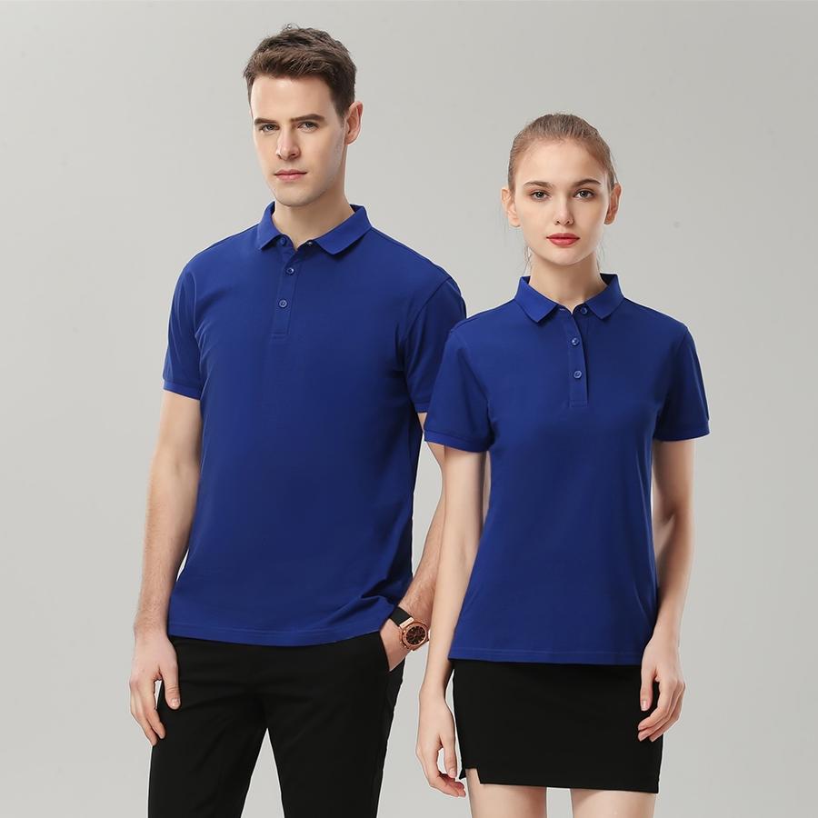 100%丝光棉纯色POLO衫